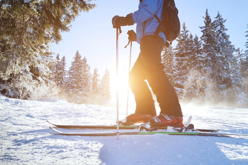 Skiing is a great way to burn calories this winter.